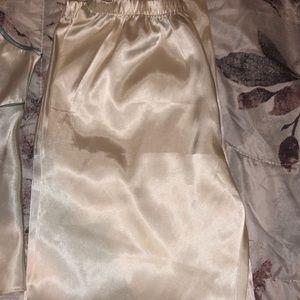 Satin cami with pajamas